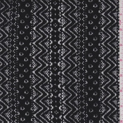 Black Stripe Lace, Fabric Sold By the Yard