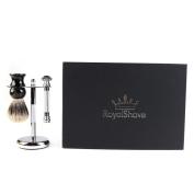 RoyalShave Merkur 38C HD Razor + Brush + Stand Set - Wet Shave Set for Men!