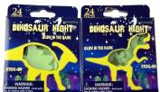 Set Of 48 Glow In The Dark Dinosaur Stick On Plastic Wall Stickers