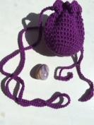 Amulet bag & Purple Jasper ~ Ravenz Roost hand made item