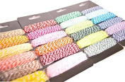 4 Pack Double Colour Rope Cotton Baker Twine for DIY Gift Packing Scrapbook Party Decoration