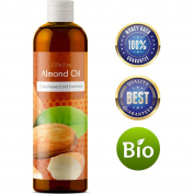 100% Pure Sweet Almond Oil for Skin Nails and Hair Growth Aromatherapy Carrier Oil Moisturising Anti-Ageing Treatment Massage Oil for Stretchmarks Scars Dark Circles Wrinkles Beauty Oil for Smooth Skin