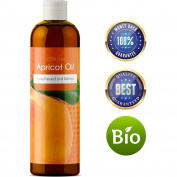 100% Pure Kernel Oil Apricot Kernel Seed Oil for Face Skin and Hair Growth Carrier Oil for Aromatherapy Massage Natural Anti-Ageing Skin Care Daily Moisturiser for Women and Men with Dry Sensitive Skin
