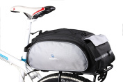 DCCN Rear Bicycle Pannier Bag Large Bicycle Cycle Rear Pannier Luggage Bag Rack Water-resistant Rear Seat Carrier Bag 13L with High Quality