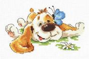 Cross Stitch Kit Tired (dog)