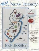 Map of New Jersey Cross Stitch chart