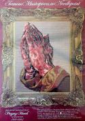 "WonderArt ""Famous Masterpieces in Needlepoint"" 30cm x 41cm Stamped Cross Stitch Kit #6801 Praying Hands by Albrecht Durer"