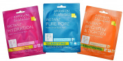 Andalou Naturals Hydro Serum Facial Sheet Mask Pack of 3 - Instant Pure Pore, Instant Brighten & Tighten, and Instant Hydration