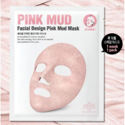 SO'NATURAL Design Pink Mud Mask / Mask type / Covered in an ultra thin layer of mud / Cosmetic
