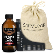 Beard Oil Grooming Set V2 - Premium, by Shiny Leaf