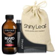 Beard Oil Grooming Set V2 - Premium, by Shiny Leaf