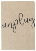 Eccolo World Traveller Linen Unplug 15cm x 20cm Flexi Cover Journal, Premium Lined Pages