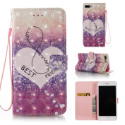 EC-touch Simple Beautiful Colourful Flower [Magnetic] Style PU Leather Case Wallet Flip Stand [Flap Closure] Cover for Iphone 5 SE,6S,6S Plus,7,7 Plus