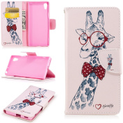 EC-touch Simple Beautiful Colourful Flower [Magnetic] Style PU Leather Case Wallet Flip Stand [Flap Closure] Cover for Nokia 3,Nokia 5
