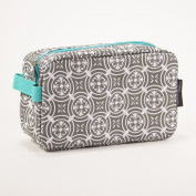 Medallion Mint Grey 25cm x 15cm Polyester Cosmetic Bag