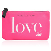 Victoria's Secret Love Me Small Travel Pink Zipper Cosmetic Bag