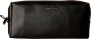 Scotch & Soda Men's Leather Toiletry Bag Black Cosmetic Bag