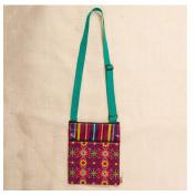 Karma by Stephen Joseph Crossbody Zipper Pouch Bag - Berry Floral
