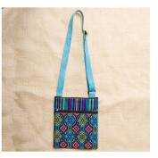Karma by Stephen Joseph Crossbody Zipper Pouch Bag - Spanish Blue