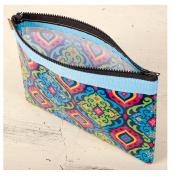Karma by Stephen Joseph Travel Carry All Zipper Case Bag - Spanish Blue
