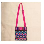 Karma by Stephen Joseph Crossbody Zipper Pouch Bag - Fandago Pink