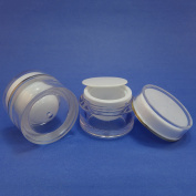 2 Pcs 10g Plastic Jar Make up Cream Cosmetic Lotion Double Wall Container Case