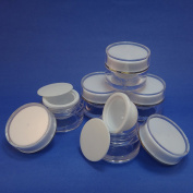 5 Pcs 10g Plastic Jar Make up Cream Cosmetic Lotion Double Wall Container Case