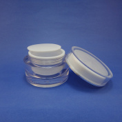 1 pcs 50 gr Acrylic Cosmetic Double Wall Cream Empty Jars Packaging