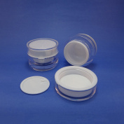 2 pcs 30ml PMMA Cosmetic Skin Care Cream Empty Double Wall Jars Packaging