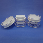 2 pcs 50 gr Acrylic Cosmetic Double Wall Cream Empty Jars Packaging