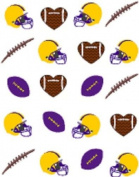 40 Sports Purple and Gold Football Nail Art Designs Decals