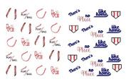 40 Sports Baseball Seams/ Stitching Homeplate Nail Art Designs Decals