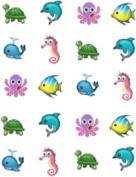 40 Emoji Sea CreaturesNail Art Designs Decals