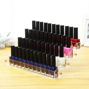 Noxus Bros Makeup Nail Polish Display Stand Organiser Clear Holder Rack Acrylic 4 Tiers