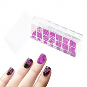 Beauty Leader For 6X12 CM Nail Art Stamping Templates Full Cover Clear Jelly Stamper Rectangular Silicone Nail Stamper Scraper Kits