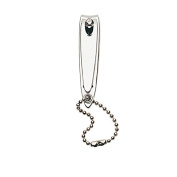 Premium Chrome Plated Nail Clipper with Chain. Handmade in Solingen, Germany by NIPPES