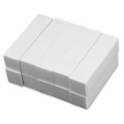 Daytingday 10 x White Nail Art Buffer Buffing Sanding File Block for Manicure Pedicure