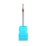 SpeTool Ball Head Cuticle Clean Drill Bit 3/32 Inch Shank Medium Grit Nail Salon For Dremel Rotary Tool,2.2x2MM