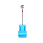 SpeTool Ball Head Cuticle Clean Drill Bit 3/32 Inch Shank Medium Grit Nail Salon For Dremel Rotary Tool,6x5MM