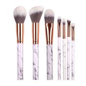 DOITOP 10Pcs Marble Make Up brushes Foundation Eyebrow Eyeliner Blush Cosmetic Concealer Brushes Super Soft Hair
