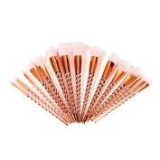 DOITOP 15Pcs Golden Unicorn Makeup Brushes Set Professional Foundation Eyebrow Eyeliner Blush Cosmetics Brush Kit