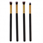 4 PCS Make Up Professional Foundation Brushes Blending Powder Brush Eyeshadow Mascara Blending Brush
