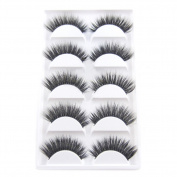 Gracefulvara 5 Pairs Luxurious 3D False Eyelashes Cross Natural Long Eye Lashes