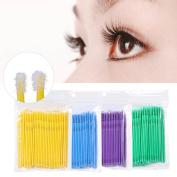 Disposable Eyelash Brush, 400Pcs Mascara Wands Eyelash Extension Makeup Micro Applicator Brushes