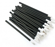 JPNK 100PCS Disposable Lip Brush Lipstick Glossy Wands Applicator Makeup Tool