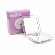 AlierKin Portable Travel Mirror - 1X and 5X Magnifying Mini square Handheld Makeup Mirror Perfect for Pocket Purses
