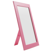 Rnow Foldable Desktop Mirror Home Travel Bright Cosmetic Mirror with Stand