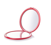 Quze Dual Sided 10 x & 1 x Magnifying Compact Mirror