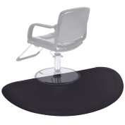Giantex Black Semi Circle 1.5mx0.9m Barber Salon Anti Fatigue Floor Mat Beauty Supplier