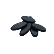 Lifetop 6pcs/lot Massage Hot Stones Massage Lava Natural Stone Set Hot Spa Rock Massage GuaSha Tool